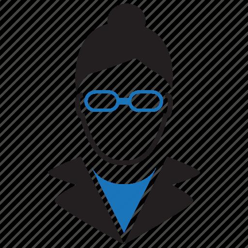 avatar, businesswoman, teacher icon