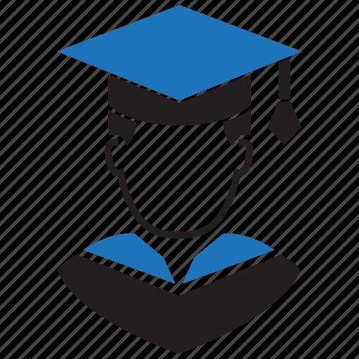avatar, boy, education, graduation, man, school, study icon