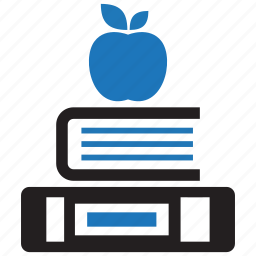 apple, book, education, knowledge, learning, school, study icon
