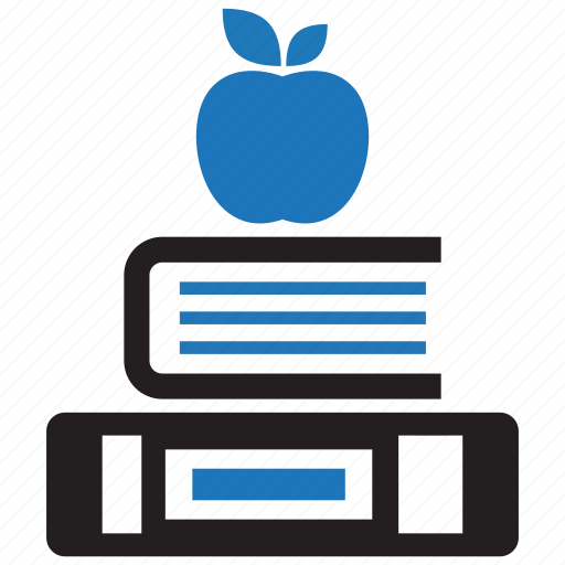 apple, book, education, knowledge icon