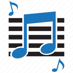 audio, education, music, musical note, note, school, sound icon