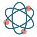 atom, electrons, physics, science icon