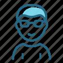 boy, child, glasses, student icon