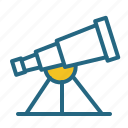 astronomy, science, space, telescope icon