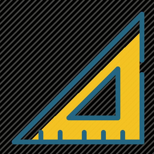 angle, measurement, ruler, triangle icon
