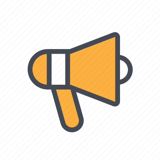advertising, announcement, hailer, loudspeaker, megaphone icon