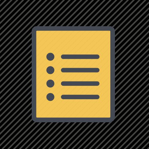 checklist, list, to do list icon