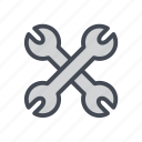 configuration, construction, repair, settings, tool, tools, wrench icon