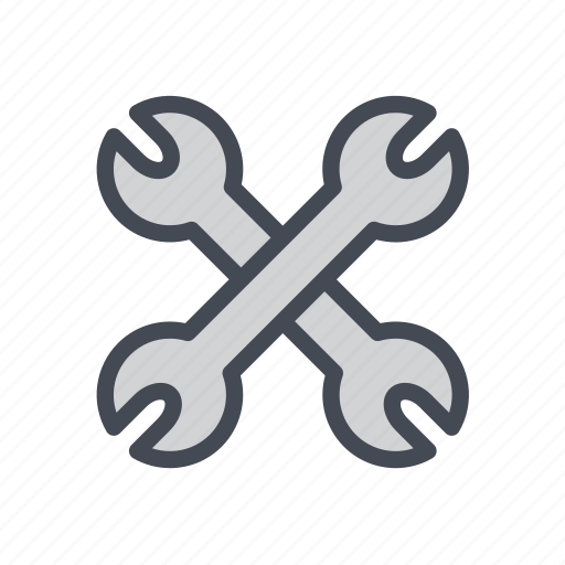 Tools, repair, settings, tool, construction, wrench, configuration icon