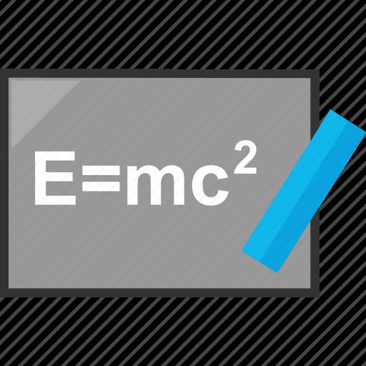 elearning, emc2, formula, solving icon