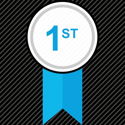 award, first, ribbon, web icon