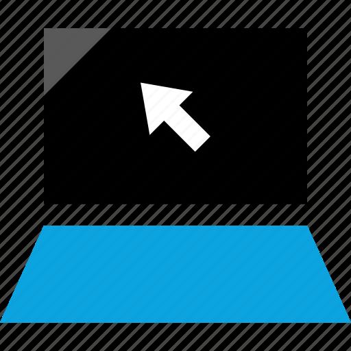 click, internet, laptop, web icon