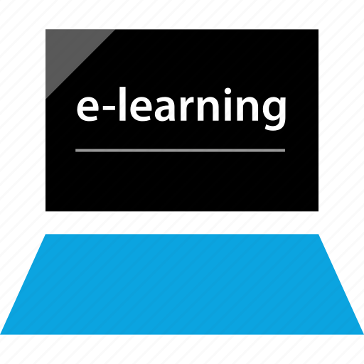 elearning, learning, online, web icon
