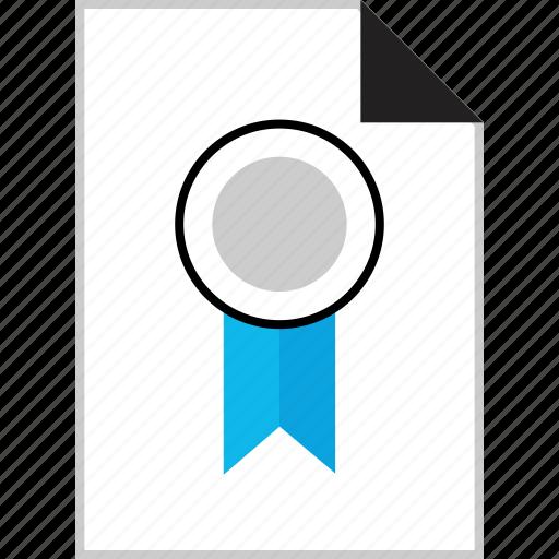 award, first, page, ribbon icon