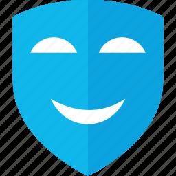 arts, happy, mask, smile icon
