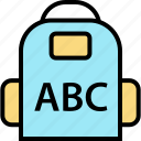 abc, education, school icon