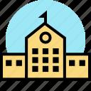 building, campus, school icon