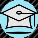 cap, graduation, school icon