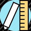 measure, ruler, school icon
