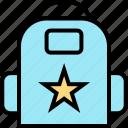 learn, school, star icon