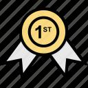 award, ribbon, teaching icon