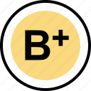 b, good, plus, teaching icon