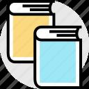 books, double, teaching icon