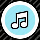 music, note, teaching icon