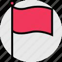 flag, school, teaching icon