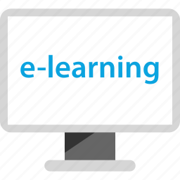 education, elearning, electronic learning, online icon
