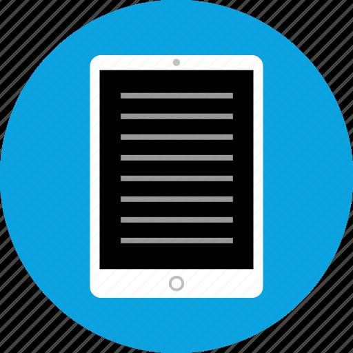 education, ipad, learning, tech icon