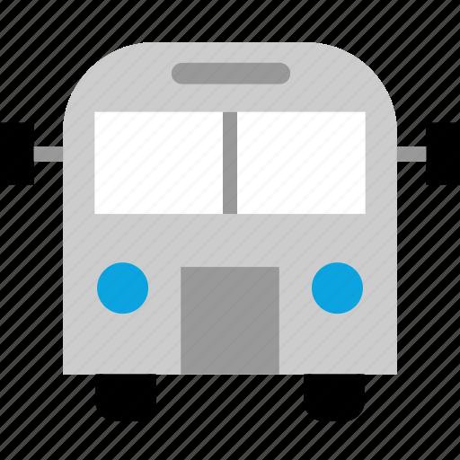 bus, transport, transportation, university icon