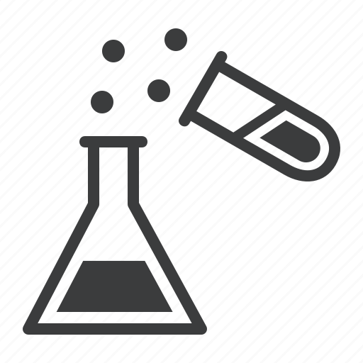 beaker, chemistry, erlenmeyer flask, experiment, laboratory, research, test tube icon