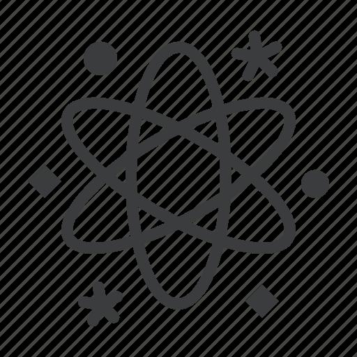 astronomy, atom, energy, orbit, planet, science, space icon