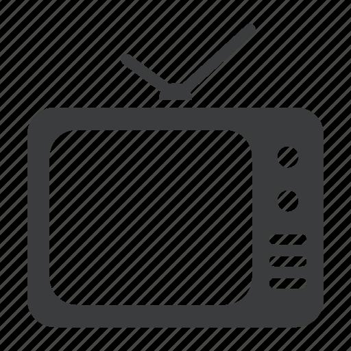 education, entertainment, idiotbox, recreation, television, tv, watch icon