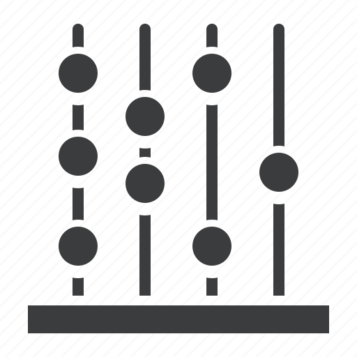 abacus, count, counting, device, education, math, school icon