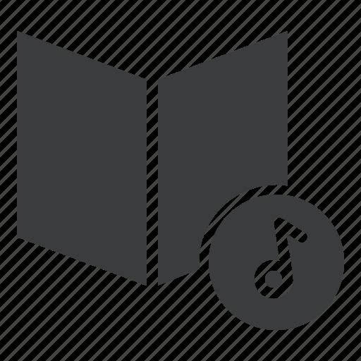 audio, book, cd, digital, education, multimedia, music icon