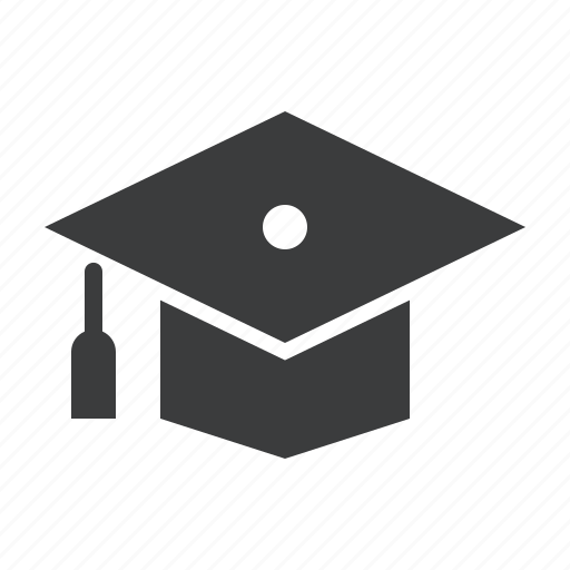 college, degree, graduate, graduation, hat, mortarboard, school icon