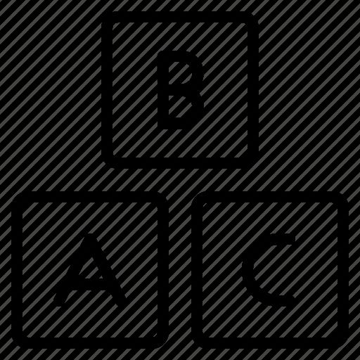 abc, alphabets, basic, class, education, elementary, english icon