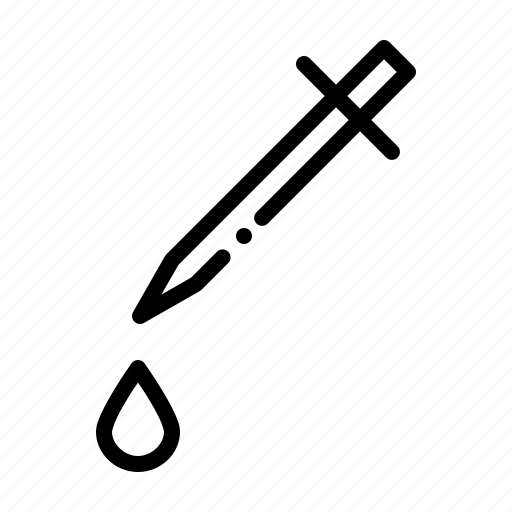 drop, dropper, eye, ink, liquid, solution, stationery icon