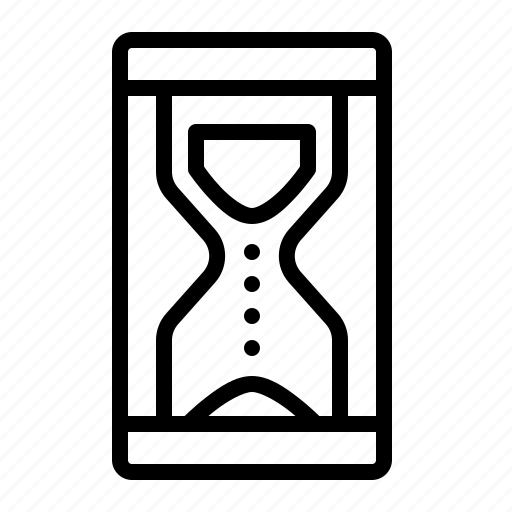 clock, device, hourglass, sand, time icon