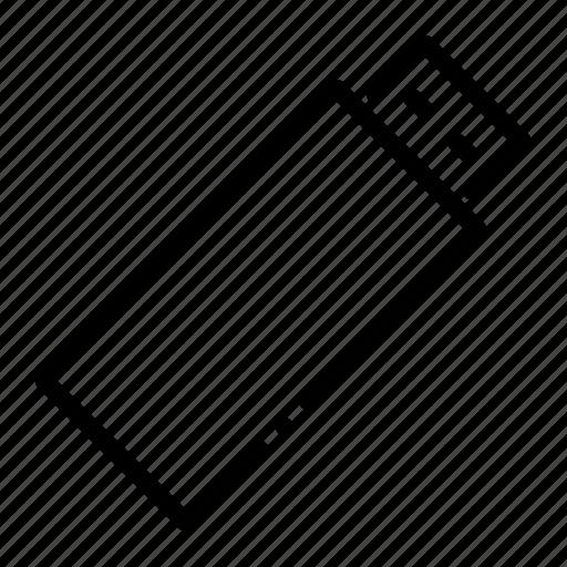 data, drive, pen, stick, storage, usb icon