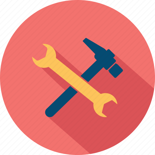 build, diy, hammer, preferences, project, settings, tools icon