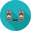 hifi, music, note, speaker icon
