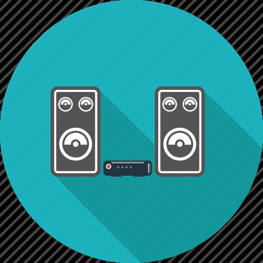 hifi, music, note, speaker icon