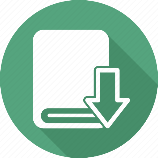 arrow, book, books, directory, down, library icon