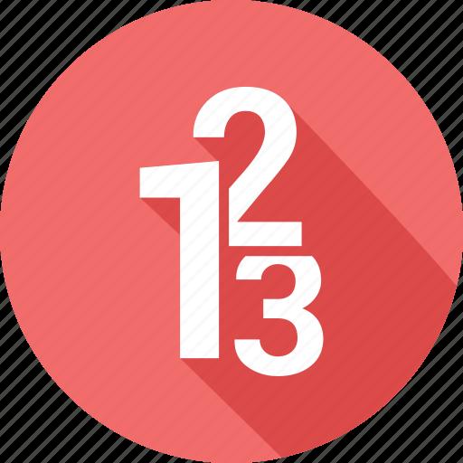 digits 123, education, school, writing icon