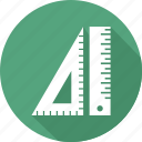 geometry, measure, ruler, tool icon