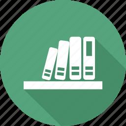 book, bookshelf, education, knowledge icon