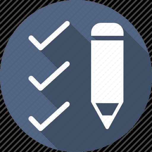 check, draw, edit, pencil, right, write icon